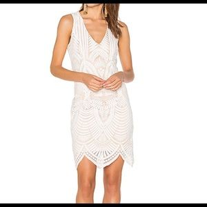 Embroidered Lace Ivory Dress